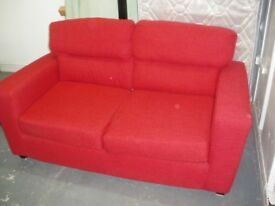 RED METAL-ACTION SOFA BED