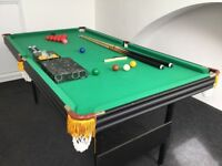 Folding 6' by 3' snooker table