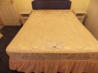 Double divan bed base & mattress