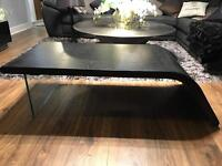 Coffee table ,x2 side tables , modern black