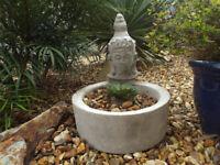Concrete (reconstituted stone) Buddha Head Garden Planter – Garden Ornament/Indoor Use