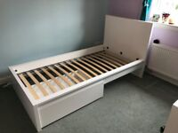 IKEA white Single bed in great condition