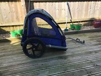 Double bike trailer buggy