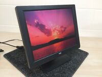 "TVS 15.1"" LCD TFT Monitor Display for Epos POS Till, Computer VGA Cable & PSU"