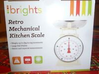 Retro mechanical kitchen scales - brand new - unwanted Christmas gift!