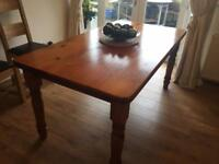 Farm house Solid pine kitchen table