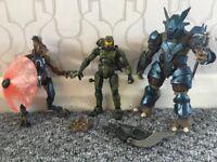 """Halo 3 Figure Bundle: Master Chief (5""""), Brute (6""""), Jackle (5"""") (Excellent Condition)"""