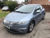 2006 HONDA CIVIC 1.8 SE, 140,000 MOTOR WAY MILES, 2 KEYS, MOT TILL JUNE 2019, 3 KEEPER, DRIVES GREAT