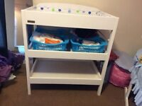 East coast white changing table.