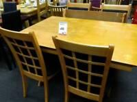 Light wood dining suite