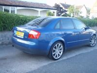 "AUDI A4 2.0 2001 18"" ALLOYS WITH RECENT TYRES MOT APRIL 2017"