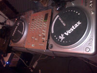 2 x Vestax PDX 2000 turntables & PCV 2000 Mixer & bag of Tunes (Price reduction!)