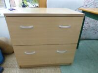 Faux wood effect 2 drawer filing drawers cupboard