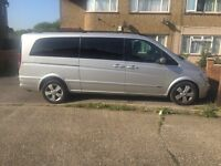 Mercedes Viano 2012 PCO registered with dealer's history.