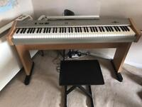 Digital Piano Gear4Music PDP220 with stool, pedal, power adapter