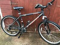 Mountain bike Kona 55£ with front suspension also lights and lock