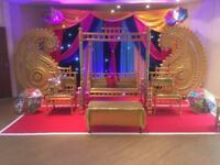 stages / Mehndi mehendti stages / Asian dj / dhol / house lights/ best deal!