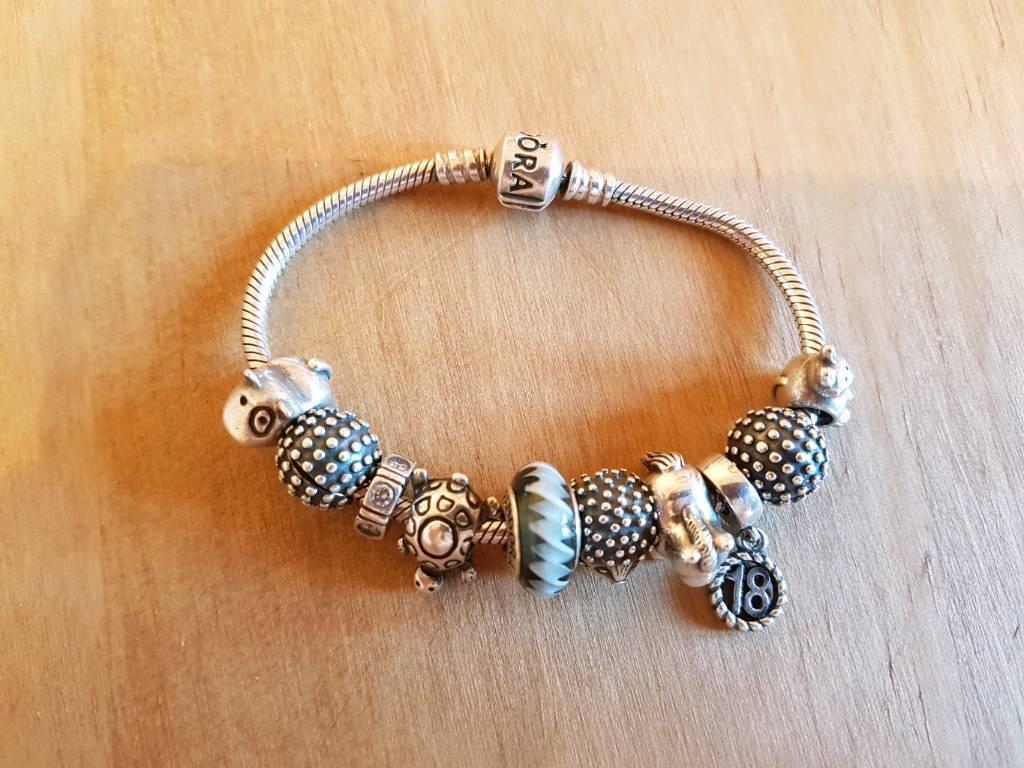 Genuine Pandora Bracelet and Genuine charms