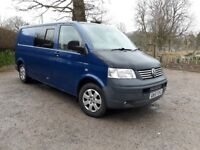 Thinking of the outdoors? VW T5 2007 LWB, partial conversion with rock and roll bed.