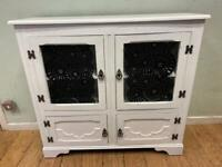 Vintage shabby chic console hall cupboard