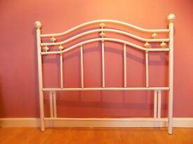 White Metal Headboard For Double Bed