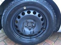 "16"" 5x100 VAG Steel wheels with 205 55 16 Tyres x5 Golf Beetle"