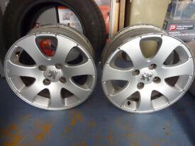 "2 x Peugeot 307 15"" alloys"