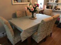 6 beautiful fabric dining chairs