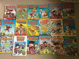Beano and Dandy Annual collection