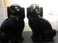 Pair Staffordshire Dogs, black