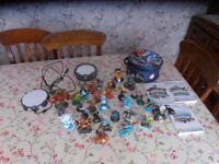 wii skylanders games and 29 skylanders figures