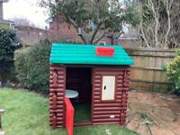 Little Tikes outdoor log cabin/playhouse