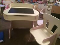 Kidsaw pink and white wooden desk