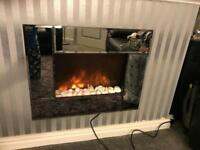 Electric wall fire