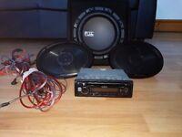 *Kenwood Car Stereo KDC-100U* *x2 Pioneer Speakers* *Fuji 800W Bass Box with Amp* *Wires/Screws Inc*