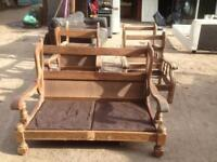 Set of oak chairs