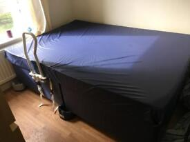 Double bed hospital grade waterproof mattress and divan base - PRICE REDUCED FOR QUICK SALE!