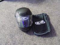 Black HJC Motorbike Helmet