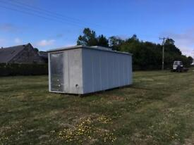 Fibreglass container style storage shed