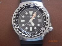 diving watch and g-shock watches