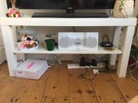 Ikea white coffee table/tv stand