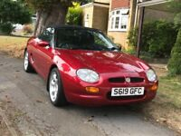 Classic MGF 1.8 sports car with additional accessories, Reg 11/98 low mileage, exemplary condition.