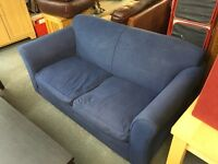 NICE BLUE FABRIC SOFA BED