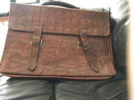 Vintage leather attache case