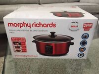 New Morphy Richards Sear and Stew Slow Cooker Red