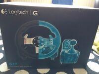 Logitech G27 steering wheel and pedal set
