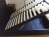 Real Leather Marks and Spencer's storage double bed frame.
