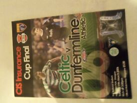 Celtic v Dunfermline 2006 Scottish cup final programme