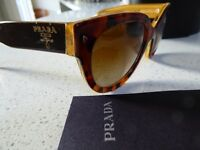 Genuine Prada Sunglasses with box, case and papers - as new condition