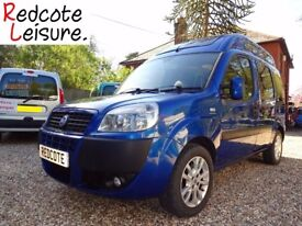 Fiat Doblo Dynamic High Roof Micro Camper Low Mileage Petrol 2 Berth Motorhome Campervan